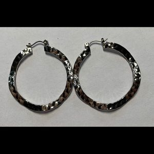 Lia Sophia hammered hoop earrings